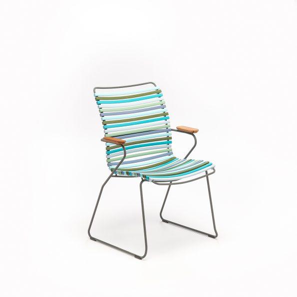 Дизайнерски градински стол Click Multi color 2