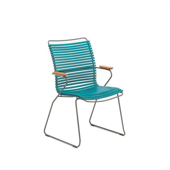Дизайнерски градински стол Click petrol