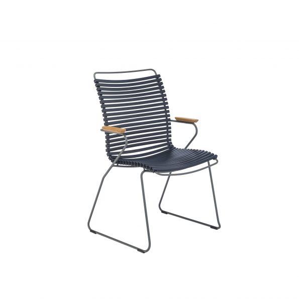Дизайнерски градински стол Click Dark Blue