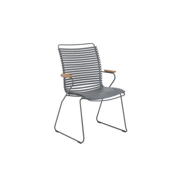 Дизайнерски градински стол Click Dark Grey