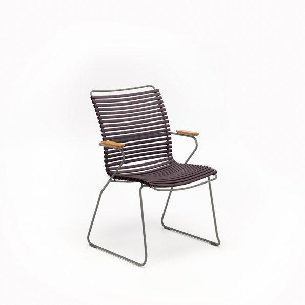 Дизайнерски градински стол Click Plum