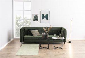Разтегателен диван JONNA горско зелен плюш 4