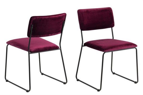 Стол за трапезария Cornelia бордо плюш