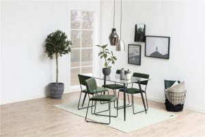 Стол за трапезария Cornelia горско зелен плюш 2