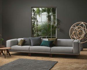 3-местен модулен диван Cosy сив