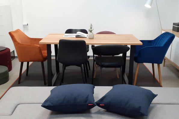 дизайнерска маса за трапезария от масивен дъб PLANA LOFT