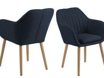 Дизайнерски стол Emilia Oak тъмносин