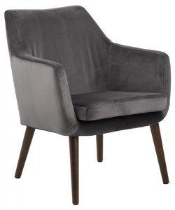 Кресло Nora тъмносив плюш