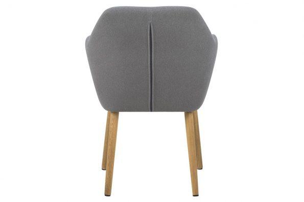 Трапезарен стол Emilia buttons светло сив 3