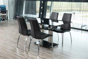 Кухненски стол Asama chrome черен еко кожа 3