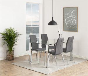 Кухненски стол Asama chrome сив