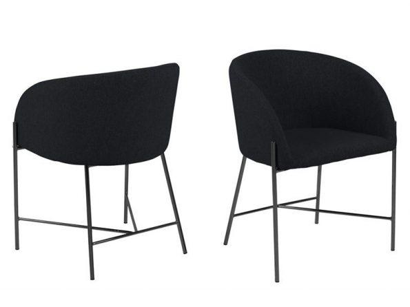 Стол за трапезария Nelson Black черен