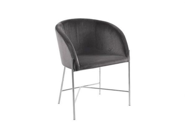 Стол за трапезария Nelson Chrome тъмносив плюш