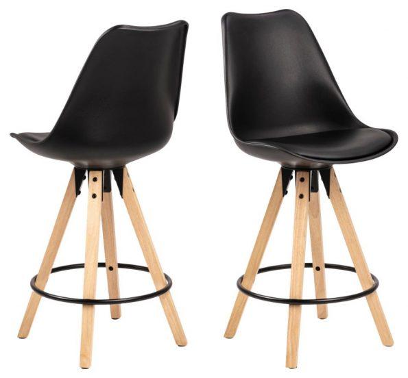Бар стол Dima черен (нисък вариант)